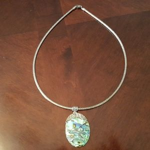 18 Inch Sterling Silver Cable Necklace & Pendant